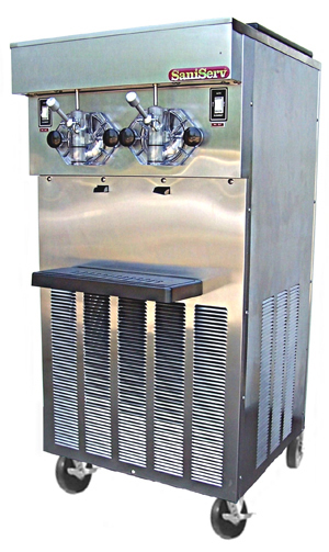 Model 824 Combination, seven 4 oz cones & five 16 oz shakes per minute, 20 qt capacity per side